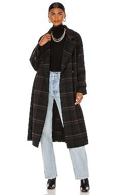 Modern Plaid Coat Vince $995 NEW