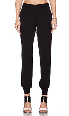 Vince Pin Tuck Jogger Pant in Black