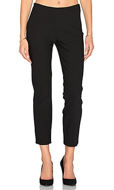 Stitch Front Pant in Black