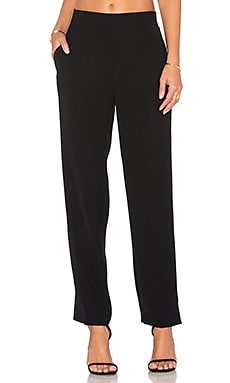 Crepe Lounge Pant in Black
