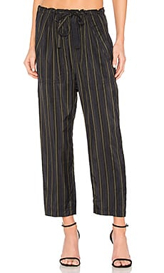 Stripe Paper Pant in Coastal, Black & Olive
