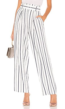 Dobby Stripe Belted Pant Vince $108