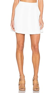 Vince Pleated Skirt in Off White