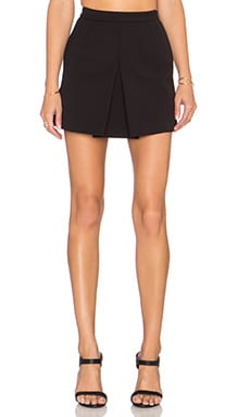 Vince Inverted Front Pleat Skirt in Black
