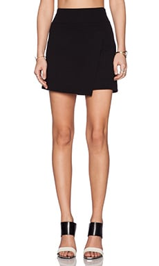 Vince Asymmetric Skirt in Black