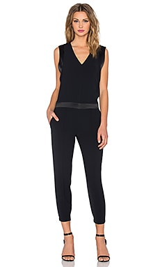 Vince Pintuck Jumpsuit in Coastal & Black