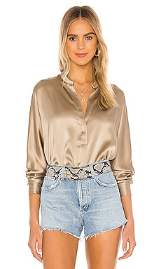 Band Collar Blouse Vince $256