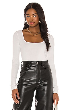 Long Sleeve Square Neck Top Vince $76