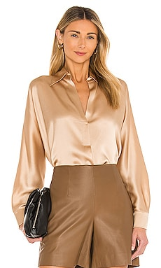 Shaped Collar Popover Top Vince $325 NEW