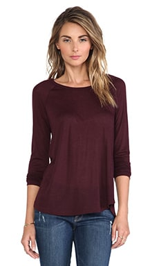 Vince Long Sleeve Raglan in Shiraz
