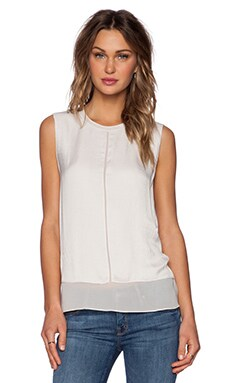 Vince Overlay Blouse in Ivory