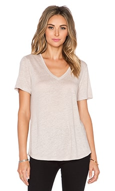 Vince Shirt Tail Tee in Straw