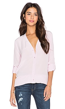 Vince Vee Button Down Blouse in Orchid