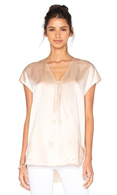 Vince Short Sleeve Slim Blouse in Rose Water
