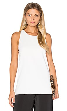 Vince Bonded Tank in Off White