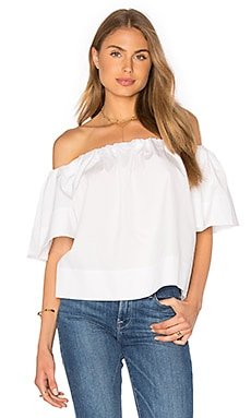 Shoulder Play Top en Blanc
