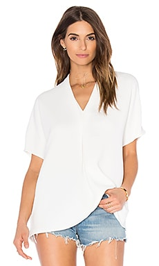 Vince Double Vee Top in Off White