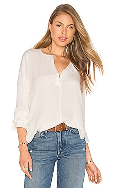 Covered Placket Blouse in Off White