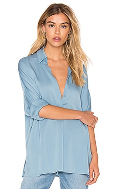 V Neck Blouse in Sky Blue