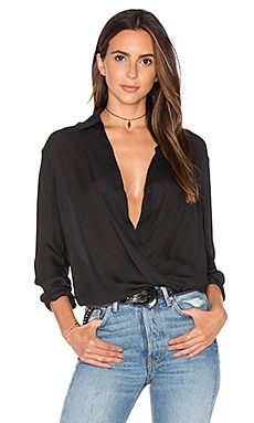 Wrap Blouse in Black