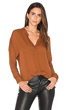 Double Front Blouse in Cinnamon Stick