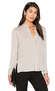 Stitch Pleat Blouse en Taupe