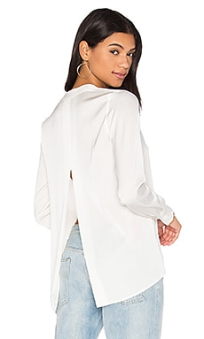 Satin Slit Back Blouse