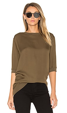 Rib Trimmed Tunic in Fatigue