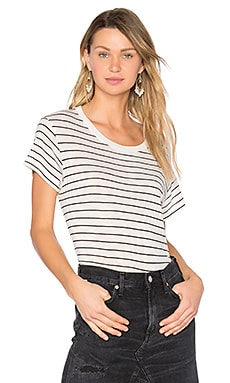 Classic Stripe Tee in Vanilla & Black