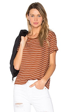Classic Stripe Tee in Fig & Vanilla