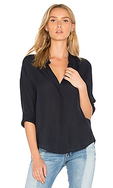 Silk Blouse in Coastal