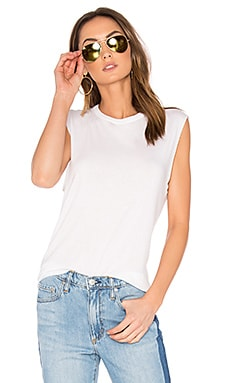 Shirttail Tank in White