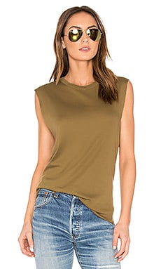 Shirttail Tank in Olive