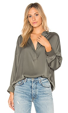 Shirred Drape Blouse