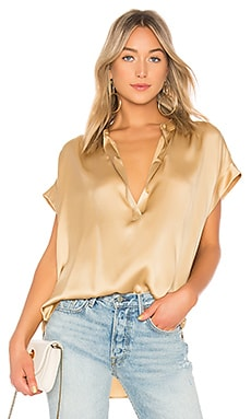 Shirred Neck Blouse Vince $285 NEW ARRIVAL