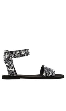 Vince Sawyer Sandal in Charcoal & White