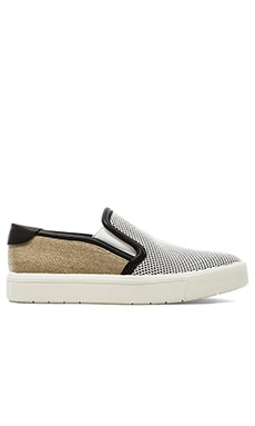 Vince Bram Slip-On Sneaker in Optic White, Bone & Black