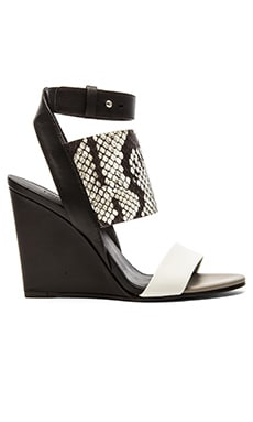 Vince Kyra Wedge in Bone, Black & White