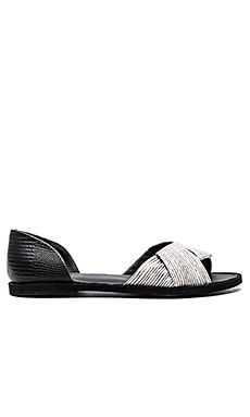 Vince Idara Flat in Black, White & Black