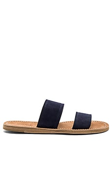 Travis Sandal in Deep Blue Suede