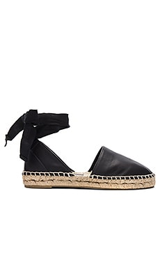 Raelin Flat in Black Calf