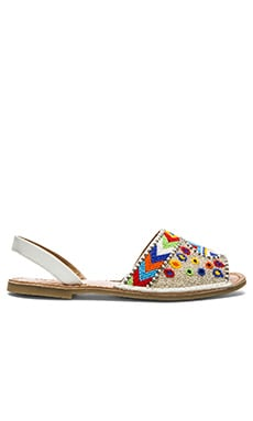 Vis-a-Vis x Rebels Brock Sandal in White Multi