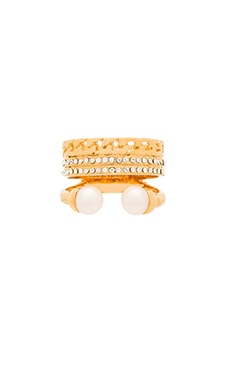 Vita Fede Catena Pearl Ring in Gold