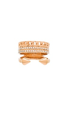 Vita Fede Catena Titan Ring in Rose Gold
