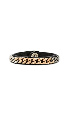 Monaco Wrap Bracelet in Black Leather & Multi