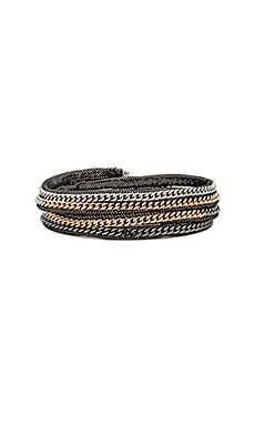 Capri Wrap Bracelet in Mars Leather & Multi