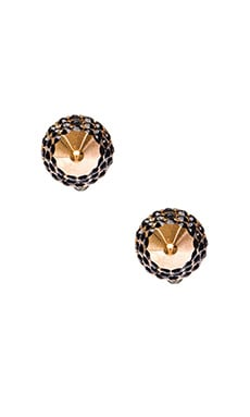Vita Fede Titan Crystal Stud Earring in Rosegold & Black