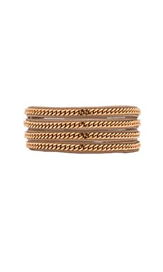 Vita Fede Capri Wrap Bracelet in Nude & Rose Gold