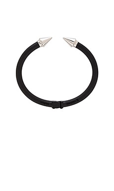 Vita Fede Mini Titan Two Tone Bracelet in Matte Black & Silver