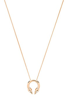 Vita Fede Titan Asteria Ring Necklace in Rose Gold & Crystal